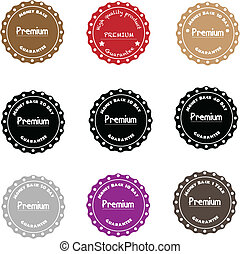 Premium Quality Label Collection in Vintage Style, Money...