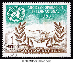 Postage stamp Chile 1966 UN and ICY Emblems - CHILE - CIRCA...