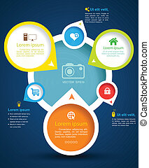 circle group with icon - vector business concepts / element...