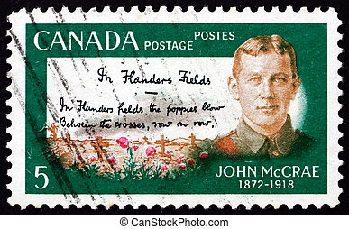 Postage stamp Canada 1968 Lt. Col. John McCrae - CANADA -...
