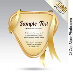tag gold ribbon - vector business concepts / element object...