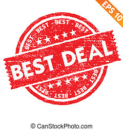 Stamp sticker best deal collection - Vector illustration -...