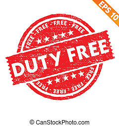 Stamp sticker Duty free collection  - Vector illustration - EPS10