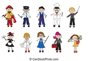 worker - illustration of different workers isolated