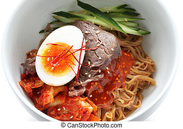 korean cold noodles - bibim naengmyeon