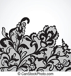 Vector lace ornament