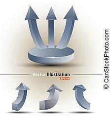 3d arrow set - vector business concepts / element object /...