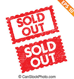 Stamp sticker sold out tag collection - Vector illustration...