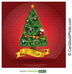 christmas tree - vector business concepts element object...