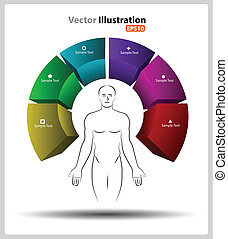 Human mindfulness 3d - vector business concepts element...