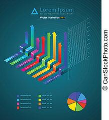 graph arrow - vector business concepts / element object /...