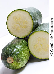 isolated fresh zuchini