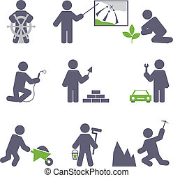 Man at work. Vector set for you design