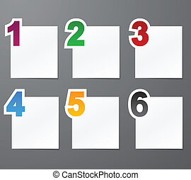 Numbered list design. - Vector illustration of numbered...
