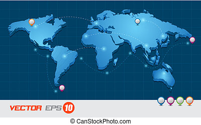 world map - vector business concepts / element object /...