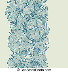 Hand drawn seamless floral pattern.