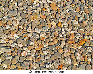 River Rock Background 1 - Background of sunlit river rocks
