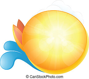 Summer symbol abstract background