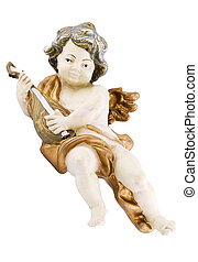 Lute playing putto