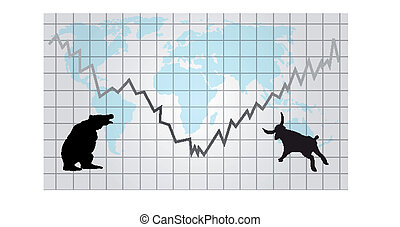 Forex or futures background - Vector background with futures...