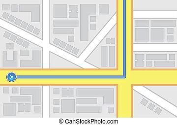 City Map Destination Route