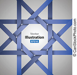 star ribbon - vector business concepts / element object /...