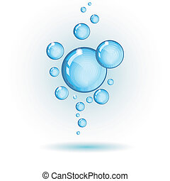 vector bubbles isolated on white, includes 300 dpi JPG,...