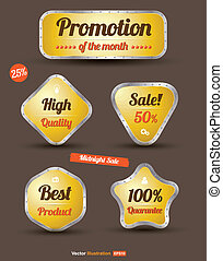 tag iron yellow promotion sale - vector business concepts /...