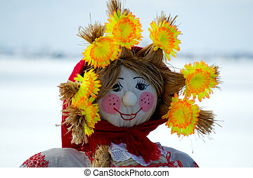 Maslenitsa Doll - The holiday of the peoples Orthodox with...