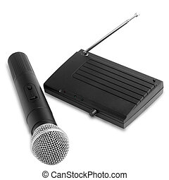 radio wireless receiver microphone station with antenna...