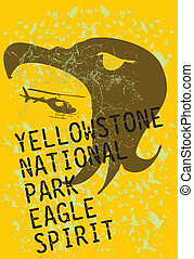 yellowstone national park eagle spirit vector art