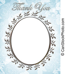 Thank you Card or Wedding Frame