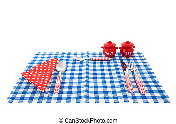 Table with cutlery - table with cutlery napkin pepper and...