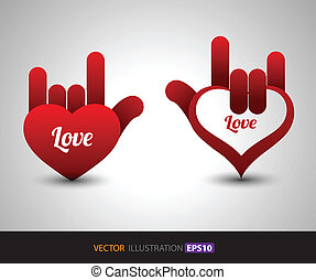 Heart Love concept - Love concept