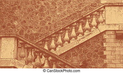 people walking up and down outdoor steps in paris, france