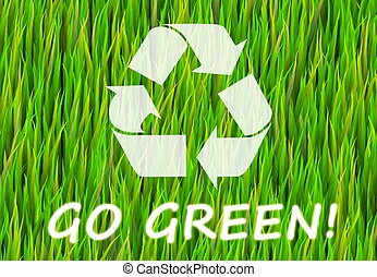 Go Green and Natural Now Abstract Background