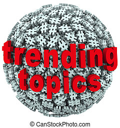 Trending Topics Hot Post Update Message Hash Tag Pound Symbols
