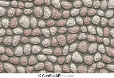 Rock Cobblestone Pavement - A Cobblestone Rock Pavement...