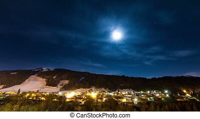 Morzine night time lapse