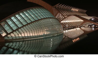 The city of science and arts, La Ciudad de las Artes y de las Ciencias in valencia