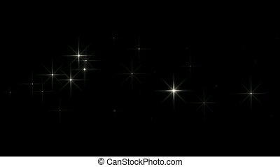 shining falling stars - looped background