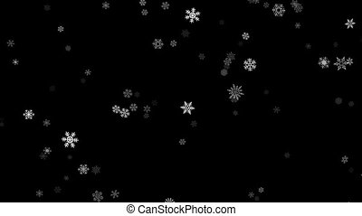 loopable snowing - stylised loopable background