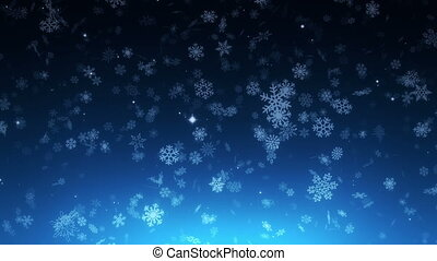 night christmas snowfall - loopable background