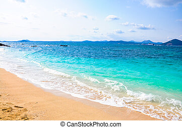 Pure sea in Udo island, South Korea - Udo is a small island...