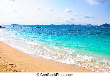 Pure sea in Udo island, South Korea - Udo is a small island...