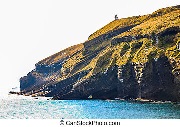 Rocky cliff in Udo island, Korea - Udo is a small and famous...