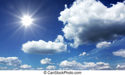 Sunny sky with clouds - Loopable time lapse footage
