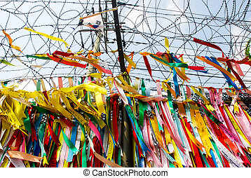 Millions of prayer ribbons, DMZ, Ko - Millions of prayer...