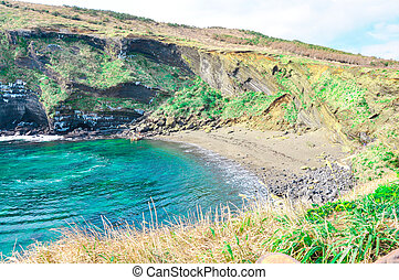 Black sand beach in Udo, Korea - Udo is a small and famous...
