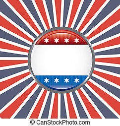 shield patriot over flag background vector illustration